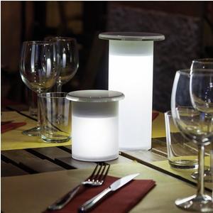Lampada da tavolo Abat Jour Grande MUSHROOM diametro Ø12xh21cm -IW-5V struttura in cristallo acrilico opalino