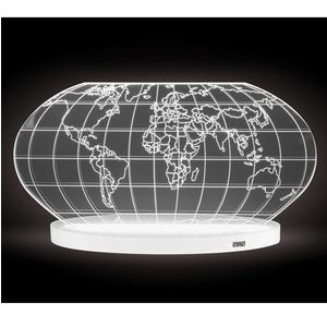 Lampada da tavolo COLOMBO LUXURY in cristallo acrilico 32x12xh19 cm con base Bianco opalino