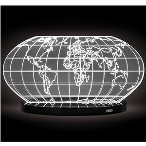 Lampada da tavolo COLOMBO LUXURY in cristallo acrilico 32x12xh19 cm con base Nero Lucido