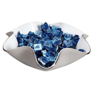 Centrotavola, portafrutta in cristallo acrilico LIke Water 33xh10 cm colore grigio tortora