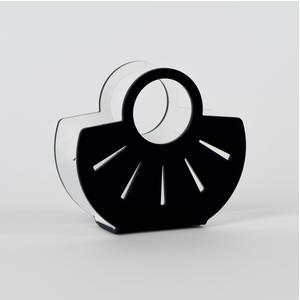 Portatovaglioli, Portaposta Verticale AMALIA 13,5x5,5x12h cm - spessore 5 mm colore nero