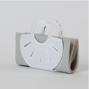 Portatovaglioli, Portaposta Verticale AMALIA 13,5x5,5x12h cm - spessore 5 mm colore bianco