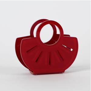 Portatovaglioli, Portaposta Verticale AMALIA 13,5x5,5x12h cm - spessore 5 mm colore rosso