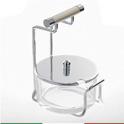 Formaggera Full Metal 9x9x14cm in vetro e metallo