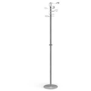 Appendiabiti 38x38xh176 cm KAA LIGHT base e supporto in acciaio lucido particolari in plexiglas Bianco
