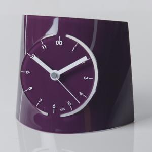 Orologio da tavolo in Plexiglas FUTURE 20,5x13x18,5cm colore Prugna