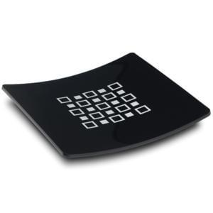 Vuotatasche DOMINO in Plexiglass 22,5x22,5xh5cm Nero