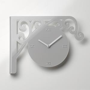 Orologio da Muro Station bicolore con movimento al quarzo 42x33 cm Orologio da entrambi i lati tortora