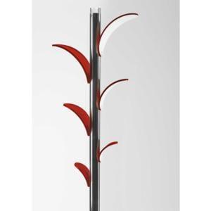 Appendiabiti in plexi SIMPLY con struttura in acciaio cm 30x30x180h cm Rosso