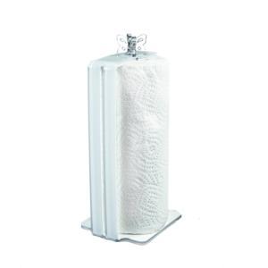 Portarotolo/Portascottex da tavolo BUTTERFLY 10,5X12Xh27 cm Bicolore Bianco