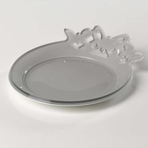 Sottobottiglie in plexiglas bicolore BUTTERFLY Ø 13 cm colore Bianco Tortora