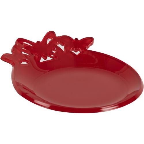 Sottobottiglie in plexiglas bicolore BUTTERFLY Ø 13 cm colore Rosso