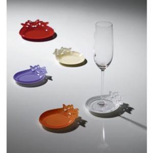 Sottobicchieri in plexiglas bicolore BUTTERFLY Ø 13 cm colore misti multicolor