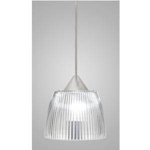 Lampada a sospensione Lady Piccola diametro 14x14xh90 cm con calotta prismatica trasparente