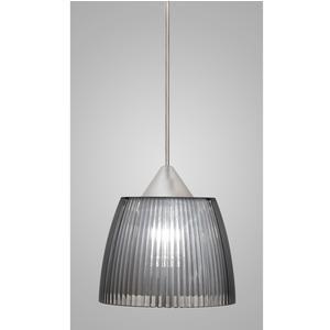 Lampada a sospensione Lady Piccola diametro 14x14xh90 cm con calotta prismatica grigio