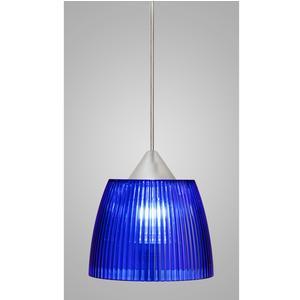 Lampada a sospensione Lady Piccola diametro 14x14xh90 cm con calotta prismatica Blu
