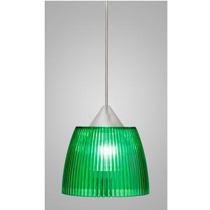 Lampada a sospensione Lady Piccola diametro 14x14xh90 cm con calotta prismatica Verde