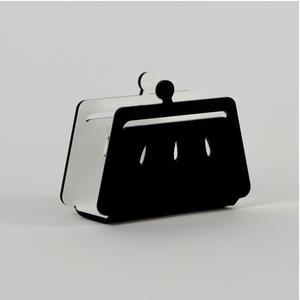Portatovaglioli, Portaposta Verticale BETTY 12x5,5xh8 cm - spessore 5 mm colore Nero