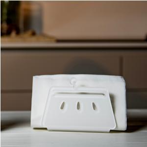 Portatovaglioli, Portaposta Verticale BETTY 12x5,5xh8 cm - spessore 5 mm colore Bianco