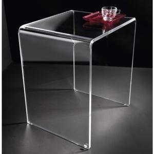 Sgabello tavolinetto in Plexiglas SIMPY 41,5x33xh47,5 cm spessore 12 mm trasparente