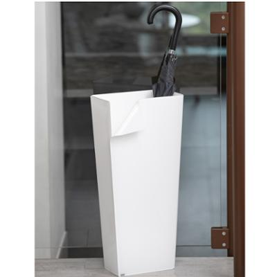 Portaombrelli 28x16.5xh60 cm ECO in plexiglas bicolore con curvatura a mano Bianco