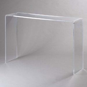 Consolle in Plexi trasparente SIMPLY 15 mm 113x31x76,5cm