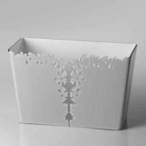 Portariviste in Plexiglass 38x16.5xh39 cm Butterfly con intagli al laser Farfalle Tortora