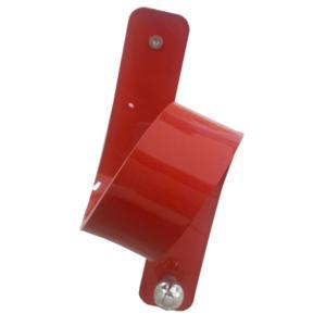 Appendino in Plexiglas 11 Puntodue 8x9x2h1,5cm con pomello in ottone cromato Rosso