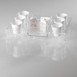 Portabicchiere universale in materiale acrilico 10 3x1x - Porta bicchieri ...
