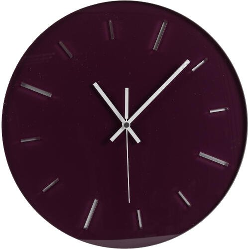 Orologio da muro rotondo Ø40 movimento al quarzo tondo R2 colore Prugna