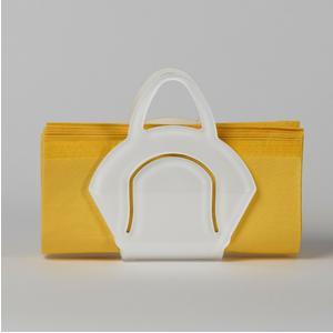 Portatovaglioli, Portaposta Verticale CHANTAL 10x5,5xH6,5 cm - spessore 5 mm colore Bianco