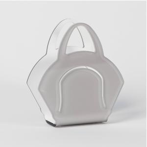 Portatovaglioli, Portaposta Verticale CHANTAL 10x5,5xH6,5 cm - spessore 5 mm colore tortora