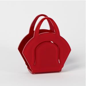 Portatovaglioli, Portaposta Verticale CHANTAL 10x5,5xH6,5 cm - spessore 5 mm colore rosso