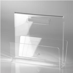 Portariviste TABLOID in plexiglas trasparente 35x17,5x32 h cm Trasparente
