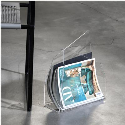 Portariviste ECO in plexi trasparente 38x16,5x25h piegato a mano trasparente