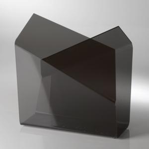Portariviste in plexiglas 32x12,5xh37 cm FREEDOM tagliato al laser Nero