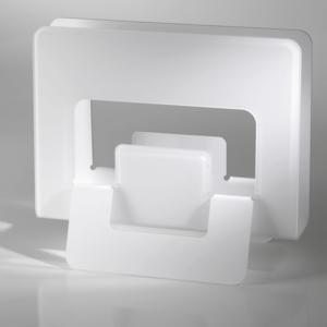 Portariviste in plexi UP 15x42x35h piegato a mano Bicolore colore Bianco