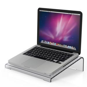 Supporto per computer porta tablette 38x27xh9 cm AIR in Plexi trasparente