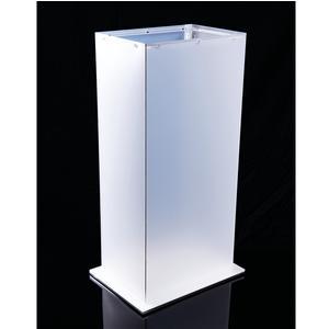 Portaombrelli Rettangolare KEILA 29x21xh55 cm in polipropilene con inserti in acrilico bianco