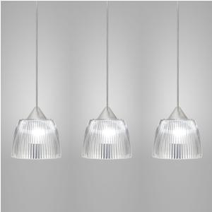 Lampada da soffitto a sospensione 3 lampade LADY diametro Ø14x65xh90cm Trasparente