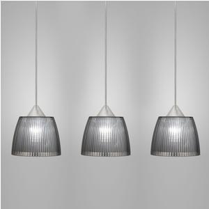 Lampada da soffitto a sospensione 3 lampade LADY diametro Ø14x65xh90cm fume'