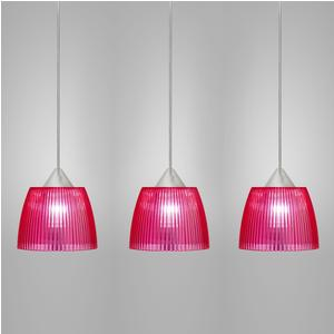 Lampada da soffitto a sospensione 3 lampade LADY diametro Ø14x65xh90cm fucsia