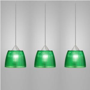 Lampada da soffitto a sospensione 3 lampade LADY diametro Ø14x65xh90cm Verde
