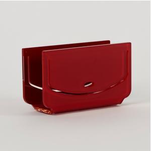 Portatovaglioli, Portaposta Verticale DORA 12x5,5xh6,5 cm - spessore 5 mm colore Rosso