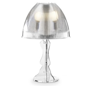Lampada da tavolo grande LADY Ø40xh60 cm Trasparente