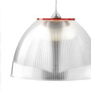 Lampadario a sospensione ø30xh22 cm interno prismatico Cappellino Medio Rosso