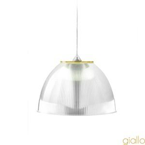 Lampadario a sospensione ø30xh22 cm interno prismatico Cappellino Medio Giallo