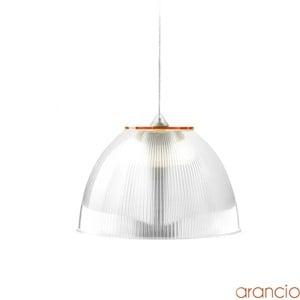 Lampadario a sospensione ø30xh22 cm interno prismatico Cappellino Medio Arancio