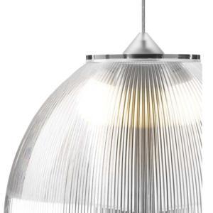 Lampadario a sospensione ø30xh22 cm interno prismatico Cappellino Medio Fume'