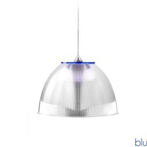 Lampadario a sospensione ø30xh22 cm interno prismatico Cappellino Medio Blu